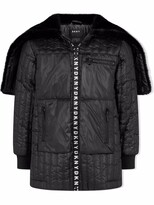 Thumbnail for your product : DKNY TEEN padded logo-zip coat
