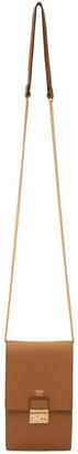 Fendi Brown Vertical Chain Kan U Bag
