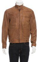 Hogan Leather Zip-Up Jacket w/ Tags