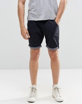 Brave Soul Chino Contrast Turn Up Shorts