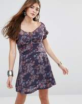 Free People Yours Truly Printed Dress