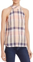 Bella Dahl Plaid Back-Buttoned Top