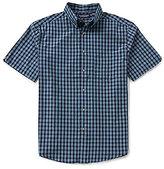 Roundtree & Yorke Short-Sleeve Cotton Check Sportshirt