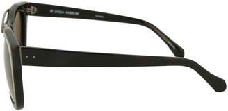 Linda Farrow Square Acetate/Titanium Sunglasses