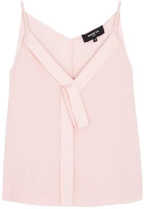 Paule Ka Light Pink Draped Top