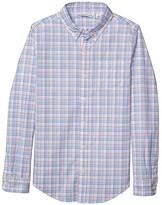 Janie and Jack Button-Down Dress Shirt (Toddler/Little Kids/Big Kids) (Blue) Boy's Clothing