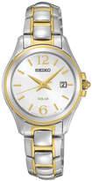 Seiko Womens Two-Tone Silver-Tone Dial Bracelet Watch SUT250