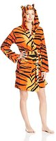 Totally Pink Women's Cozy Plush Specialty Tiger Robe