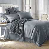 Royal Velvet 400tc Damask Stripe Cotton Comforter Set