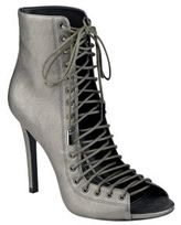 KENDALL + KYLIE Ginny Metallic Leather Lace-Up Booties