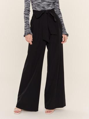 Milly Natalie Tie Waist Wide Leg Pant