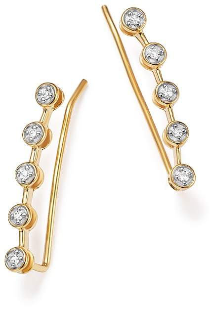 Adina 14K Yellow Gold Five Diamond Ear Climbers