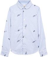 Armani Junior Striped Leaf Print Shirt 4-16 Years