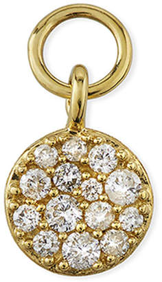 Jude Frances 18K Petite Pave Diamond Circle Earring Charm, Single