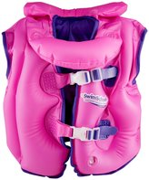 Aqua Leisure Fabric Lined Inflatable Swim Vest, removable collar, adj. buckles, Pink