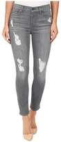 7 For All Mankind The Ankle Skinny w/ Destroy in London Grey Skies