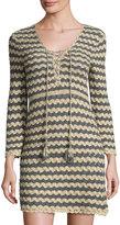 Calypso St. Barth Rigma Zigzag Knit Dress, Gold