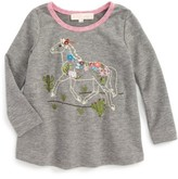 Truly Me Infant Girl's Embroidered Horse Tee