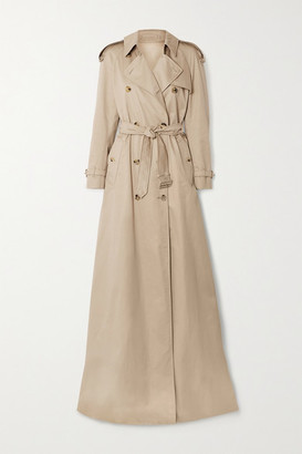 Burberry Cotton-gabardine Trench Coat - Beige