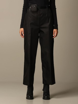 Prada Nylon Trousers With Containers