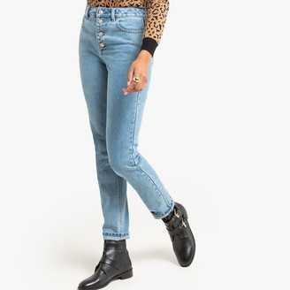"""La Redoute Collections Slim Fit Mom Jeans with High Waist, Length 30.5"""""""