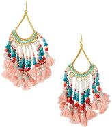 Nakamol Beaded Tasseled Drop Earrings