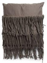 Marlo Lorenz Fringed Cotton Throw Pillow
