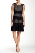London Times T1505M Sleeveless Paneled Lace Dress