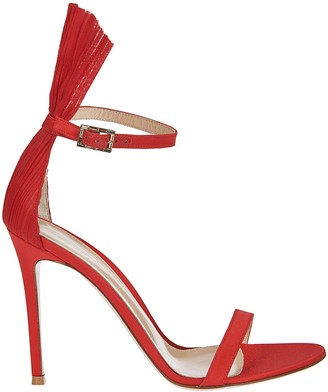 Gianvito Rossi Fringe Trim Sandals
