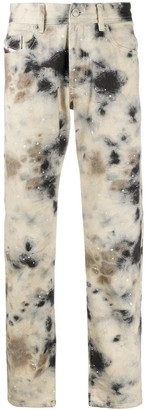 A-Cold-Wall* Mouldy-Effect Slim-Fit Jeans