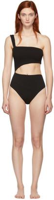Haight Black Crepe Iu One-Piece Swimsuit