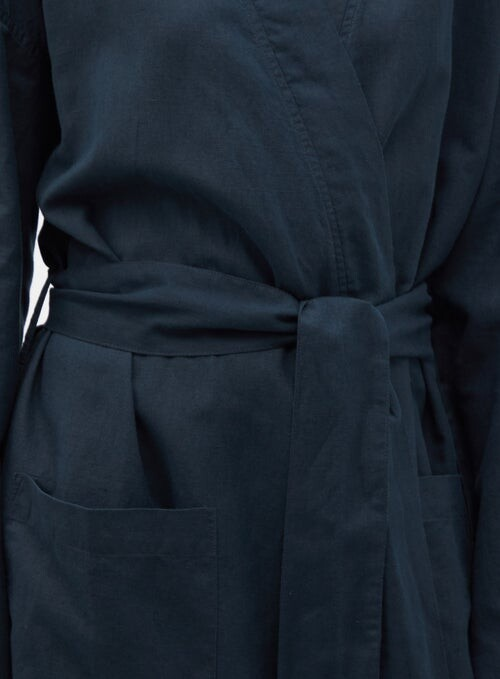 Thumbnail for your product : GENERAL SLEEP Everyone Organic-cotton Blend Robe - Navy