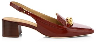 Tory Burch Jessa Patent Leather Slingback Loafers