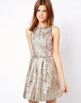 A/Wear A Wear Galatic Foil Racer Dress