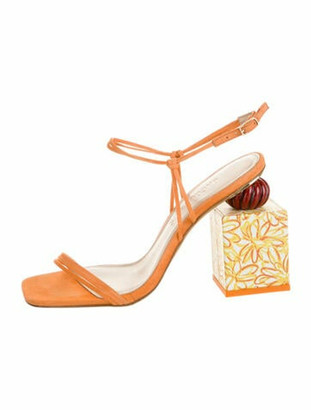 Jacquemus Leather Printed Sandals w/ Tags Orange