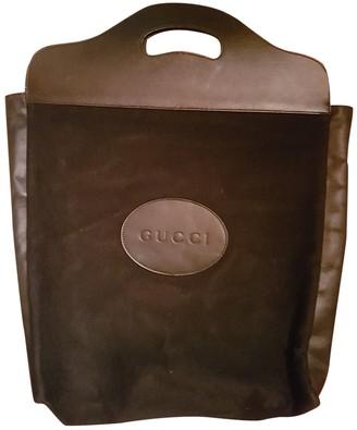 Gucci Black Suede Handbags