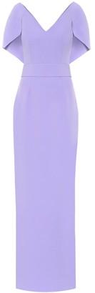 Safiyaa CrApe cape gown