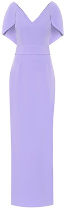 Safiyaa Crepe cape gown