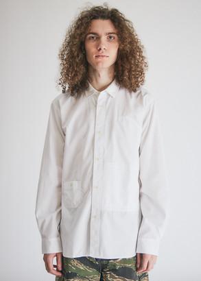 Junya Watanabe Men's Pocket Shirt in White, Size Small | 100% Cotton