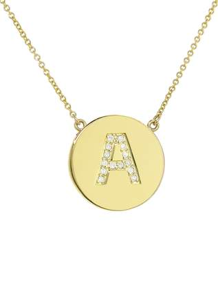 Jennifer Meyer Diamond Letter Pendant Necklace - Yellow Gold