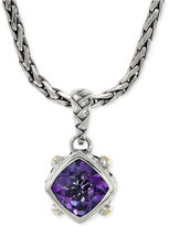 Effy Amethyst Pendant Necklace in Sterling Silver and 18k Yellow Gold (3-1/2 ct. t.w.)