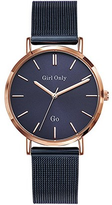 GIRL ONLY Unisex Adult Analogue Quartz Watch with Stainless Steel Strap 695992