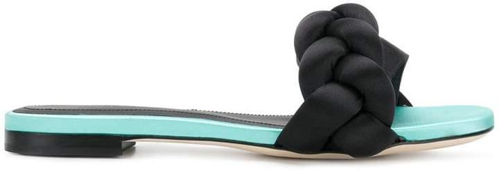 Marco De Vincenzo braided open-toe slippers