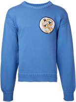J.W.Anderson embroidered patch sweater - men - Cotton - L