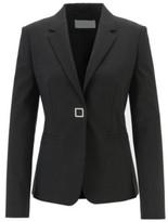 HUGO BOSS - Slim Fit Jacket In Pinstriped Italian Fabric - Patterned