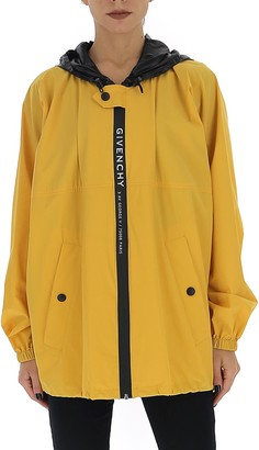 Givenchy Logo Hooded Windbreaker Jacket