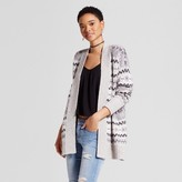 Mossimo Women's Pattern Cardigan Gray
