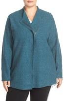 Eileen Fisher Plus Size Women's Shaped Lightweight Boiled Wool Jacket