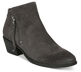 Sam Edelman Women's Packer Leather Low Heel Booties