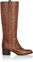 Valentino Women's Santeria Leather Knee Boots-BROWN